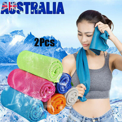 Sports Instant Cooling Towel Ice Cold Enduring Running Jogging Gym Yoga Outdoor