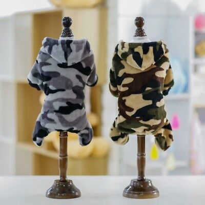 Pet Clothes SWEATER Chihuahua Small Dog Camouflage Hooded Coat Jacket Soft Warm