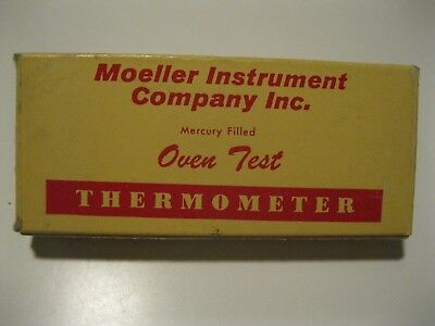 Vintage Moeller Instrument Co. Oven Test Thermometer In Box Ivoryton, Conn.
