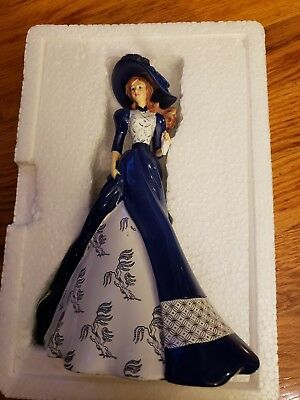 """Fiona"" Figurine From The Hamilton Blue Willow Lady Collection No: 1472A"