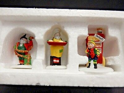 "Dept. 56 North Pole Village ""baker Elves""  Euc"