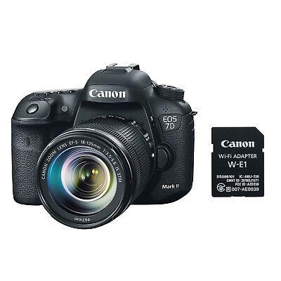 Canon EOS 7D Mark II Digital SLR Camera with 18-135mm Lens & W-E1 Wi-Fi Adapter