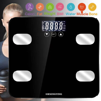 180kg Digital Bathroom Smart Scale Body Weight BMI Calorie Weighing Scale A0kM