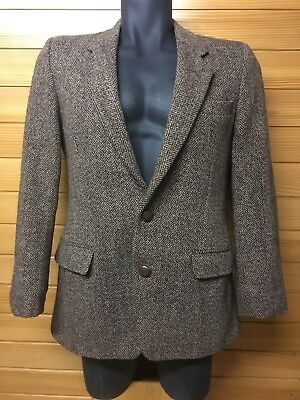 Gore Made In England Harris Tweed Scottish Wool Jacket Hand Woven Light Weight