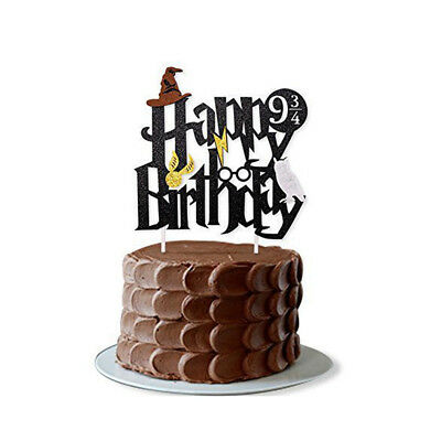 Harry Potter Happy Birthday Cake Topper Bunting Party Decoration Anniversary DM