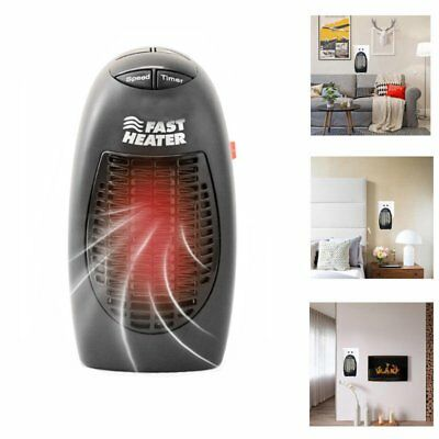 400W Fast Heater Furnace Portable Plug-in Electric Wall-outlet Space Heater