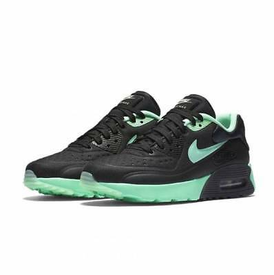 NIKE YOUTH SHOES Air Max 90 Ultra SE Black Green Glow GS 6Y