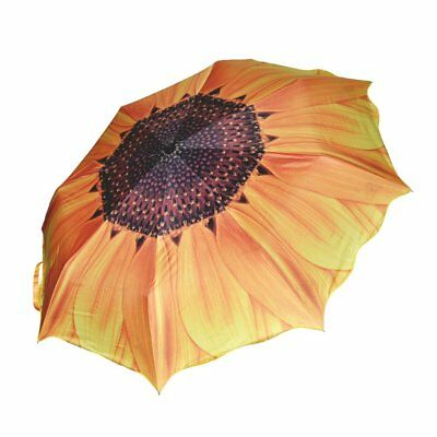 Women Folding Umbrella Compact Sunflower Travel Anti UV Rain Sun Portable Ladies