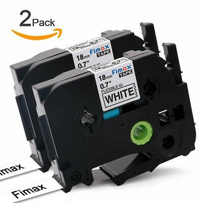 2 TZ 241 TZe-241 Compatible Brother Black on White Label maker Tape P-Touch 18mm