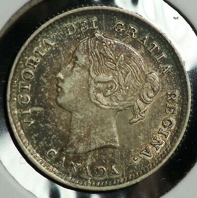 1898 Canada 5 C Five Cents Coin
