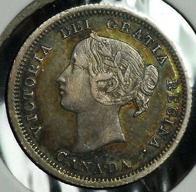 1858 Canada 5 C Five Cents Coin
