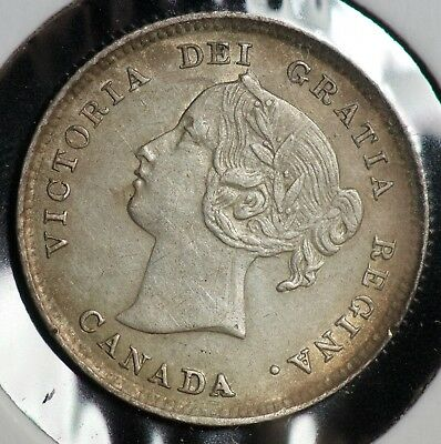 1896 Canada 5 C Five Cents Coin