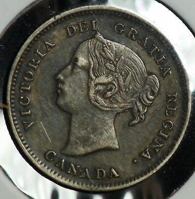 1899 Canada 5 C Five Cents Coin