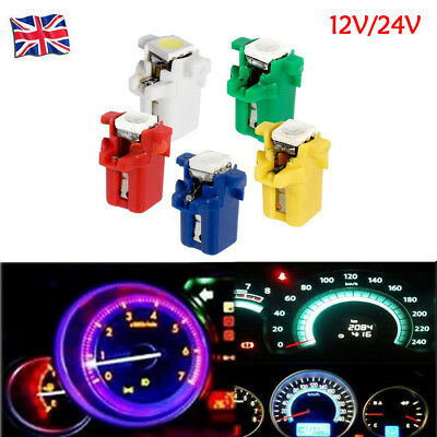 12V 24V B8.3D T5 W3W 5050 LED Gauge Speedo Dashboard Dash Side Light Bulbs