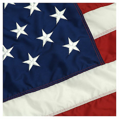 BEST 3' x 5' Embroidered Deluxe Nylon American US United States Flag w/Grommets!