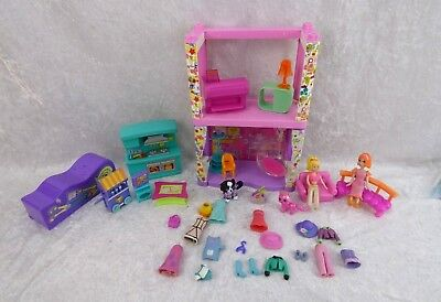 MATTEL POLLY POCKET FASHION  Boutique poupées chien chat vêtements mobilier