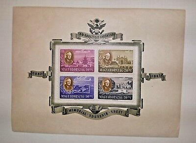 HUNGARY 2 Roosevelt Memorial Freedom  Souvenir Sheets Stamps  Mint.VF/XF