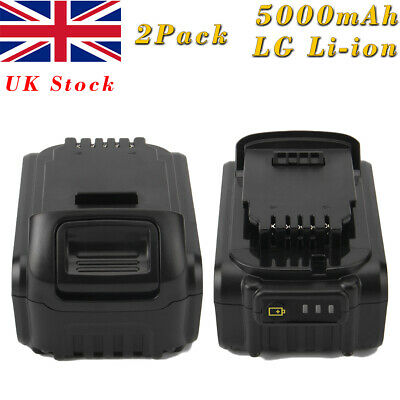 2x 5.0AH 18V XR Li-ion Battery For Dewalt DCB180 DCB181 DCB182 DCB201 DCB205