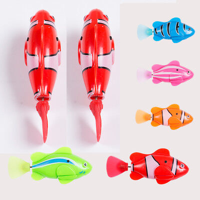 Child Kids Swimming Robofish Activated Battery Powered Fish Toys Robotic Fashion