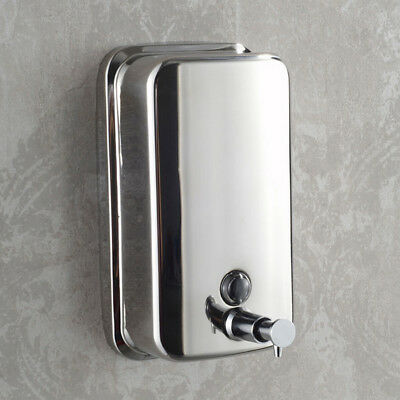 Bathroom Wall Mount Stainless Steel Shower Shampoo Lotion Liquid Soap Dispenser