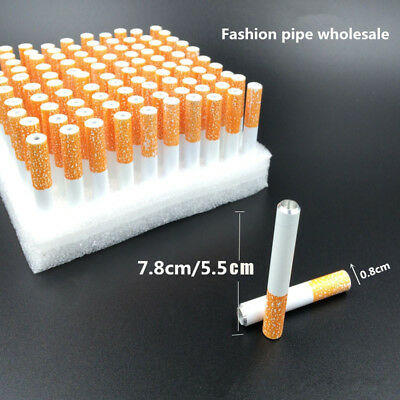 HOT 2PC 78mm Metal Dugout Smoking Cigarette Style Shaped 1Hitter One Hitter Pipe