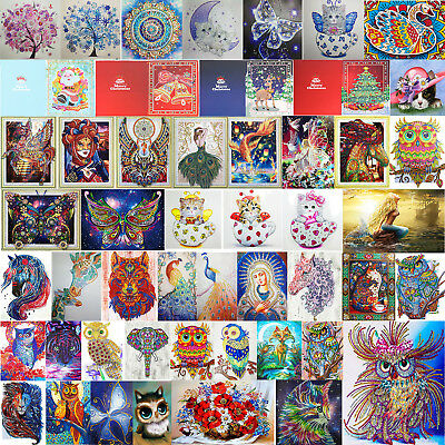 65 Pattern 5D DIY Special Shaped Diamond Painting Embroidery Cross +Drawing Tool