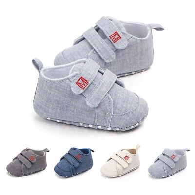 0-12 Months Infant Toddler Sneaker Newborn Baby Boy Casual Cotton Crib Shoes new