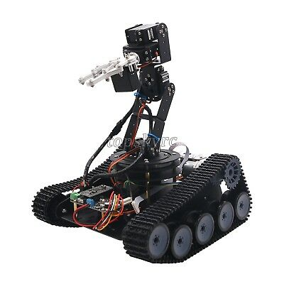 Assembled Robot Tank Car Open Source 6DOF Mechanical Arm With PS2/APP Control
