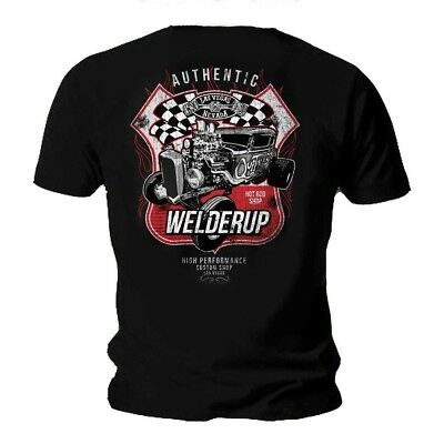 Neu !!! Official WELDERUP Garage Custom Hot Rod T shirt S - 5 XL Mann - Frauen