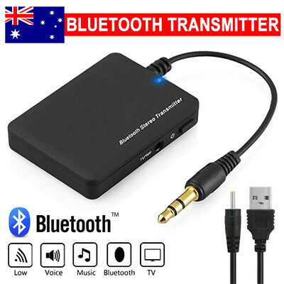 Wireless Bluetooth Transmitter Audio Stereo Music Home Car 3.5mm AUX Speaker AW