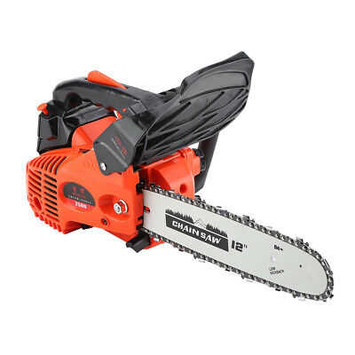 "12"" Bar Gas Chainsaw Chain Saw 25cc Engine +Aluminum Crankcase Gasoline 900W Set"