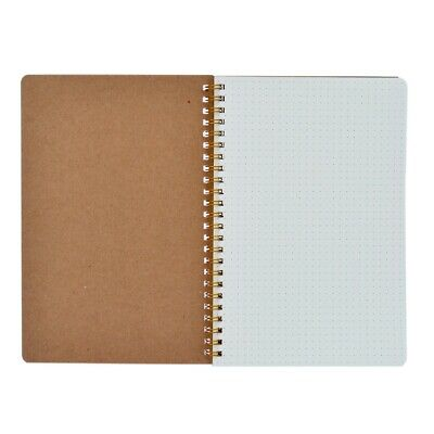 1 x A5 Bullet Journal Notebook Hardcover Cardboard Dot Grid Spiral Diary Journal