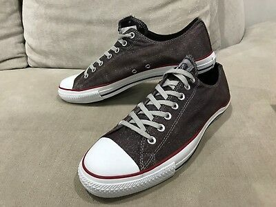 Unisex CONVERSE Maroon Shimmery Chuck Taylor Low Tops Size US M 12 W 14 [CS4]