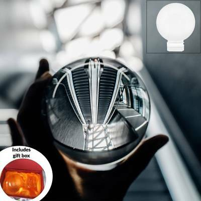 Clear Crystal Ball 80mm K9 Glass Lens Sphere Photography Decoration M&W