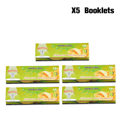5X HORNET 78MM Fruit MENTHOL Flavored Cigarette Rolling Paper 50 Papers Per Pack