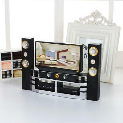 UK Dolls House Miniature Mini TV Dollhouse Accessories Dolls Living Room Decor