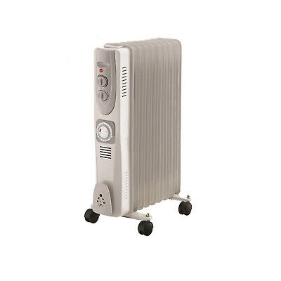 2kW Oil Filled Radiator Heater With Timer & 9 Fins