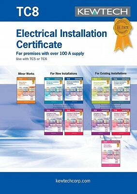Kewtech TC8 Electrical Installation Certificate for Premises over 100A Supply