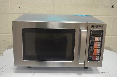 Solwave SS Commercial Microwave with Push Button Controls - 120V, 1000W
