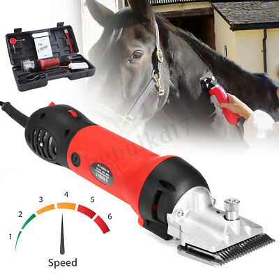 500W Pro Extra Heavy Duty Horse Cattle Animal Hair Clippers Shear Trimmer W/
