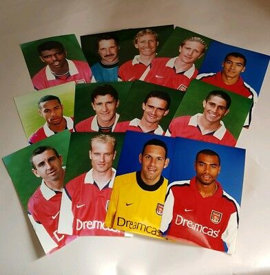 13 Official Arsenal Club Shop Press Photos 1999-2002 Thierry Henry Bergkamp