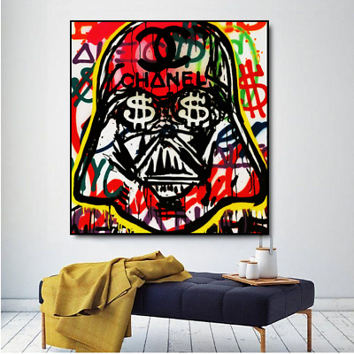 "Alec monopoly Handcraft Oil Painting on Canvas,""stra wars"",24×24IN"