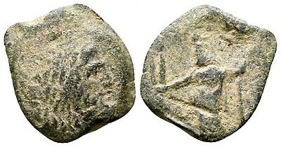 Ancient bronze coin, ca 50 BC, Middle East, Roman rule. Nice piece!