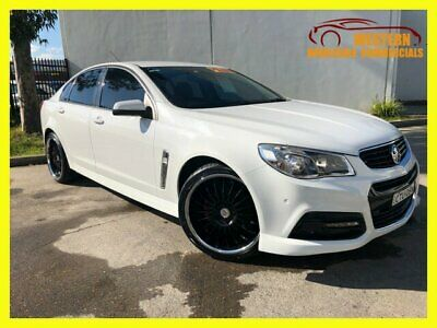 2013 Holden Commodore VF SV6 Sedan 4dr Spts Auto 6sp 3.6i [MY14] White A Sedan