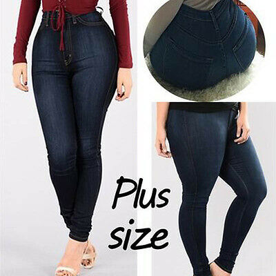 limited quantity hot new products save up to 80% WOMEN'S PLUS SIZE Stretch Denim Skinny Jeans Leggings Pants High Waist  Trousers