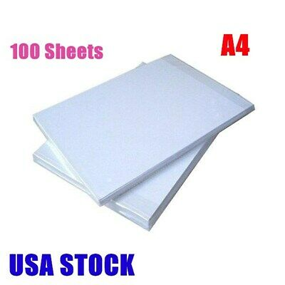 USA - 100 Sheets A4 Dye Sublimation Heat Transfer Paper for Plates Mugs Tiles