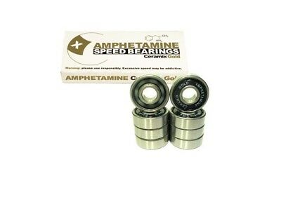 AMPHETAMINE Ceramics Gold Kugellager Bearings, Keramik für Skateboard/Longboard