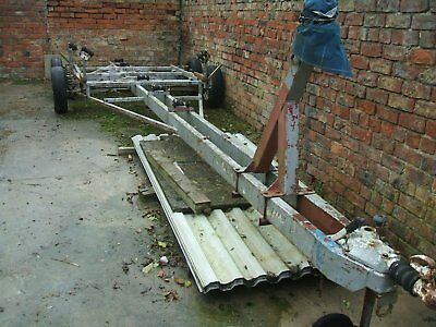Twin Axle Boat Trailer, 7.5 Metres Long, Spares Or Repairs