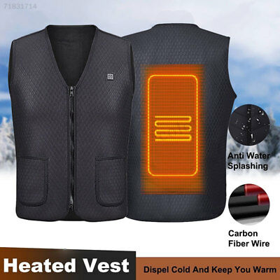 F140 Unisex Electric Heated Heating Vest Winter Warm Up Jacket USB Tops Coats