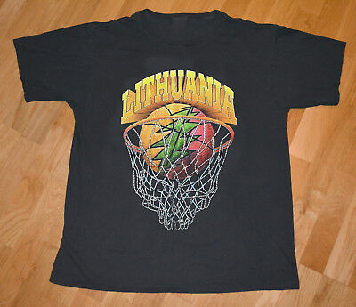 VTG Grateful Dead Shirt 1996 Lithuania Basketball T SHIRT REPRINT SIZE # NICE**